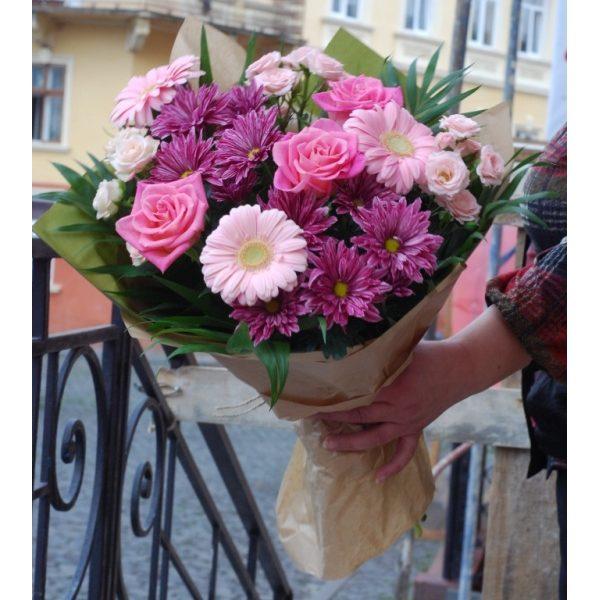 букет в рожевих тонах