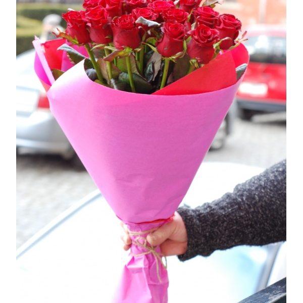 25 червоних троянд