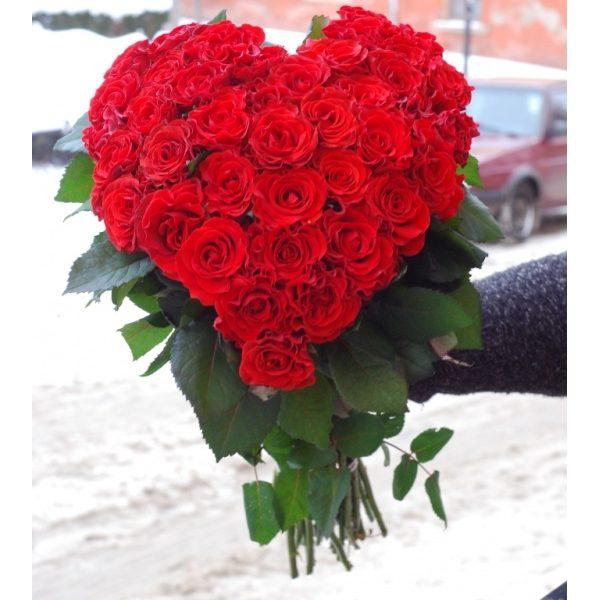 Серце з 39 троянд