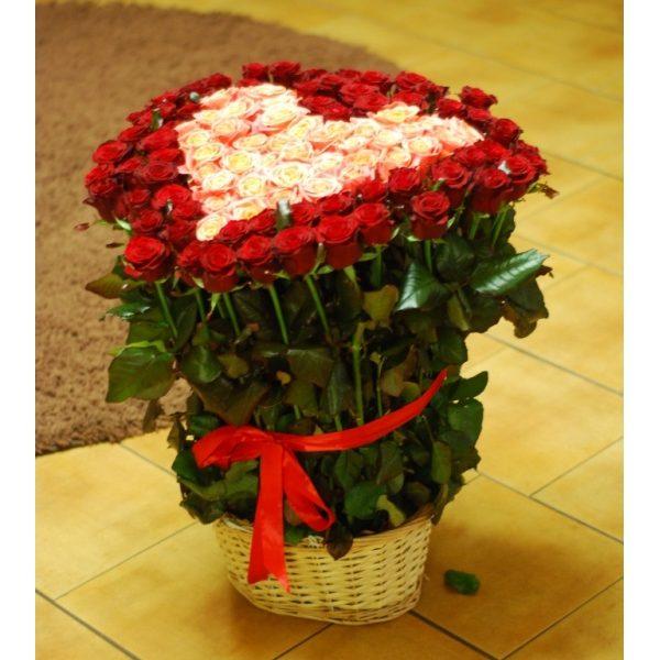 Серце з 101 троянди