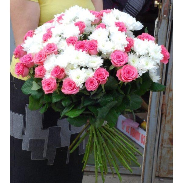 Ружі й хризантеми