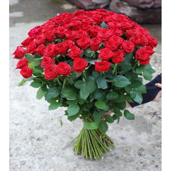 101 червона троянда 80 см
